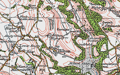 Old map of Hilton in 1919