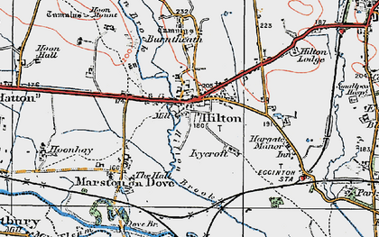 Old map of Hilton in 1921