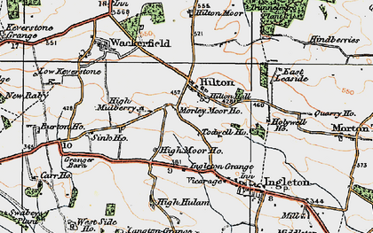 Old map of Todwell Ho in 1925