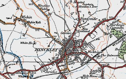 Map Of Hinckley Hinckley photos, maps, books, memories   Francis Frith Map Of Hinckley