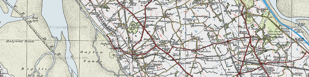 Old map of Westwood Grange in 1924