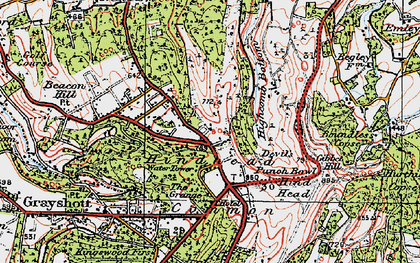 Old map of Hindhead in 1919