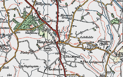 Old map of Hinstock in 1921