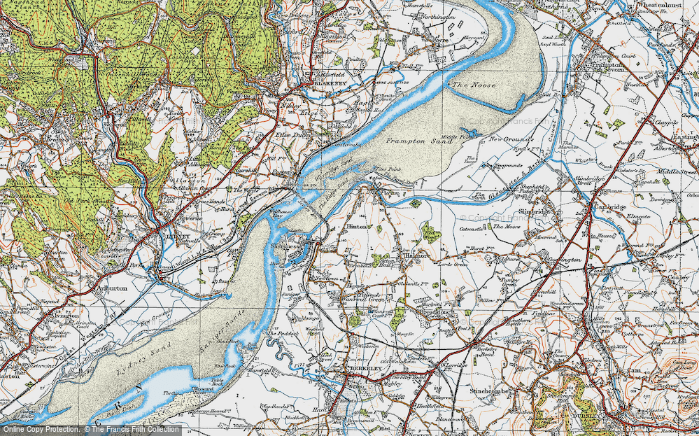 Old Map of Historic Map covering Tites Point in 1919