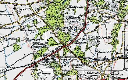 Old map of Hinton in 1919