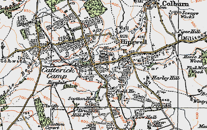 Old map of Hipswell in 1925