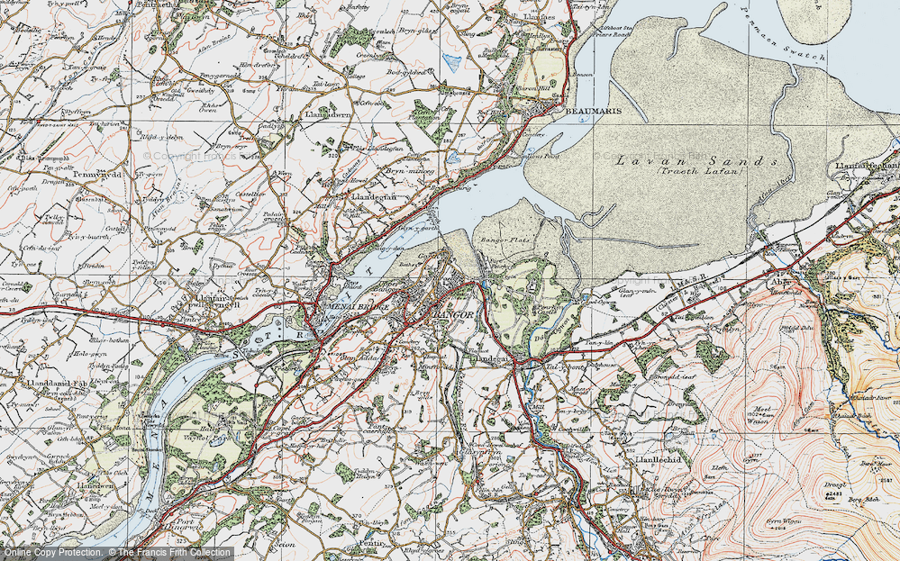 Old Map of Historic Map covering Abercegin in 1922