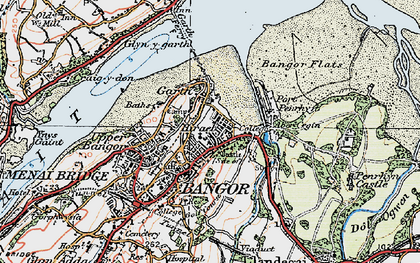 Old map of Abercegin in 1922