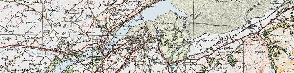Old map of Abercegin in 1922