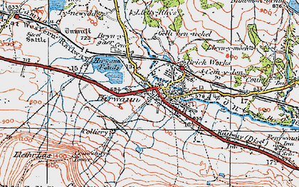 Old map of Hirwaun in 1923