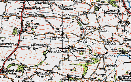 Old map of Linscott in 1919