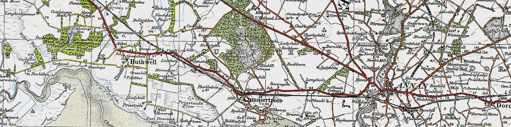 Old map of Winterseugh in 1925