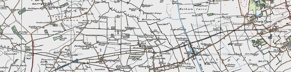 Old map of Yokefleet Lodge in 1924