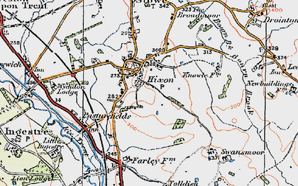 Old map of Hixon in 1921