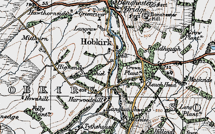 Old map of Wolfelee in 1926