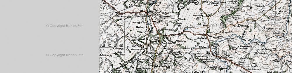 Old map of Wolfehopelee in 1926