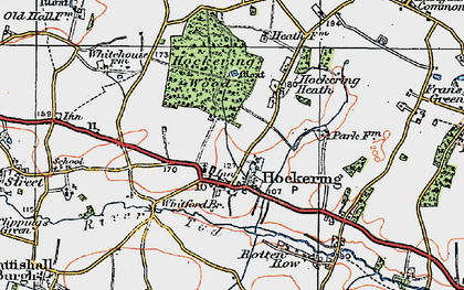 Old map of Whitford Br in 1921