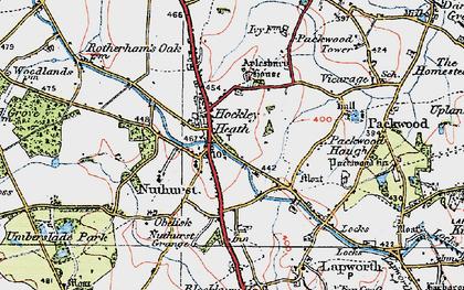 Old map of Aylesbury Ho (Hotel) in 1919