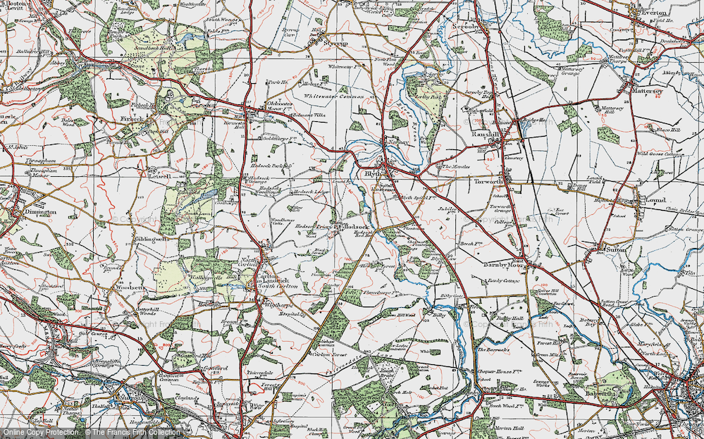 Old Map of Historic Map covering Ash Holt in 1923