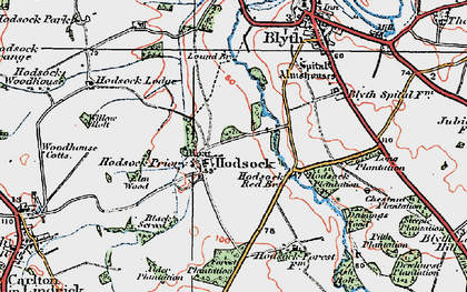 Old map of Ash Holt in 1923