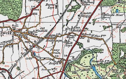 Old map of Hodthorpe in 1923