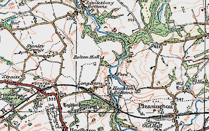 Old map of Woodcock Hill in 1924