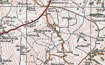 Old map of Atlow Winn in 1921