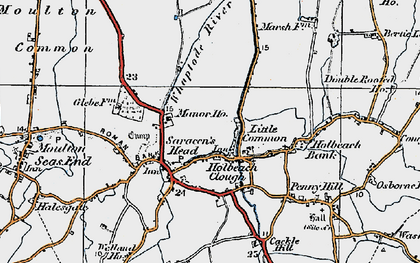 Old map of Whaplode River in 1922