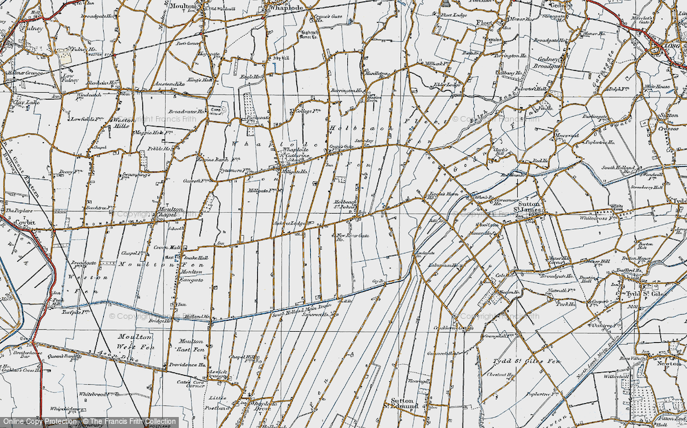 Old Map of Historic Map covering Leedsgate Br in 1922