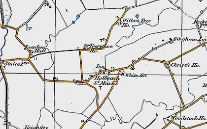 Old map of Willow Tree Ho in 1922
