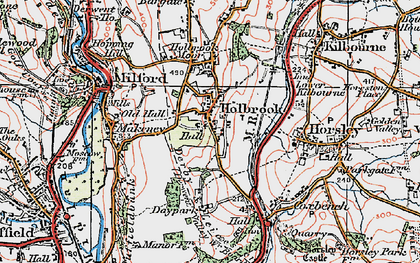 Old map of Holbrook in 1921