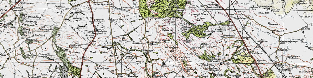 Old map of Laverock Law in 1926