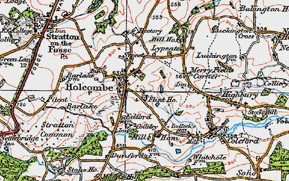 Old map of Holcombe in 1919