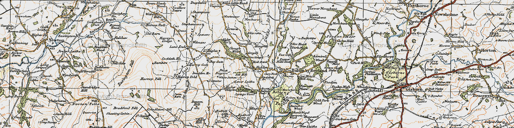 Old map of Wycongill in 1924