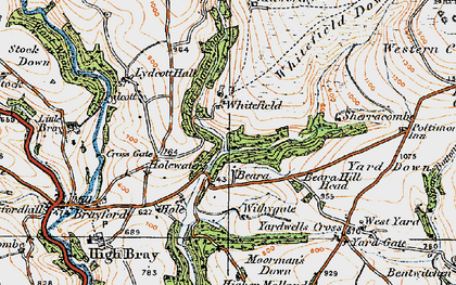 Old map of Whitefield in 1919