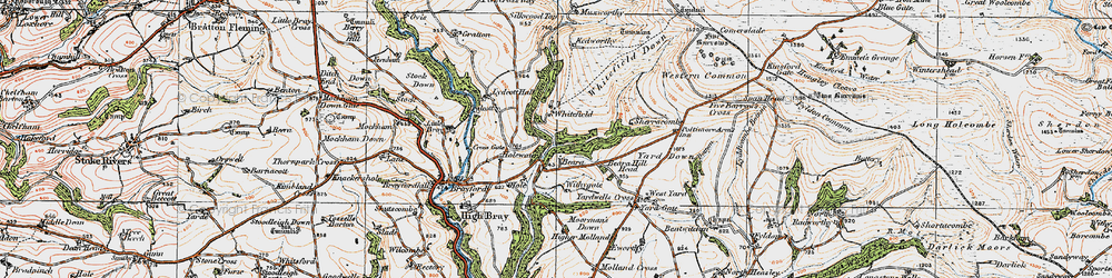 Old map of Withygate in 1919
