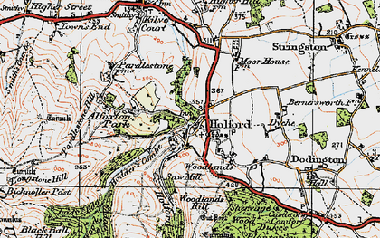 Old map of Holford in 1919