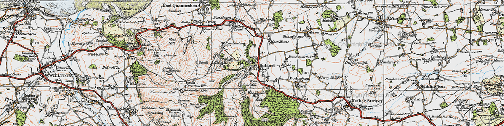 Old map of Woodlands Hill in 1919