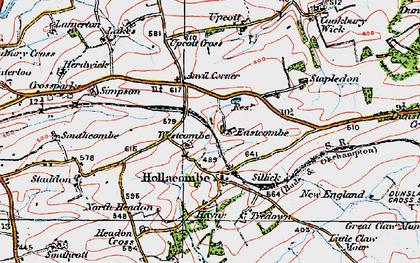 Old map of Anvil Corner in 1919