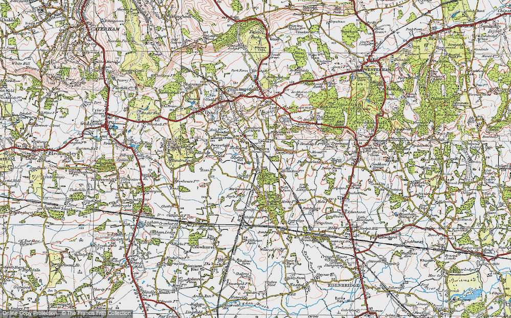 Old Map of Holland, 1920 in 1920