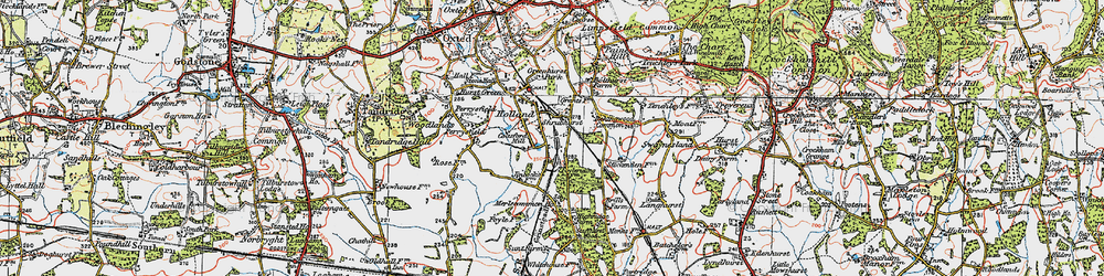 Old map of Holland in 1920