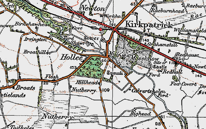 Old map of West Scales in 1925