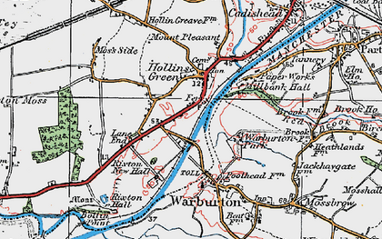Old map of Hollinfare in 1923