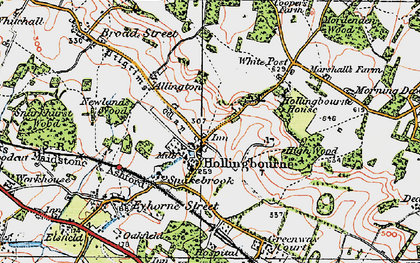 Old map of White Post in 1921