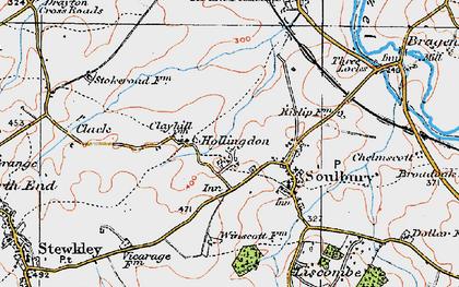 Old map of Winscott in 1919