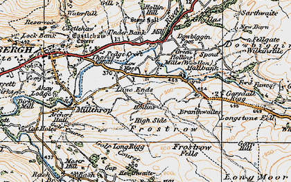 Old map of Thursgill in 1925