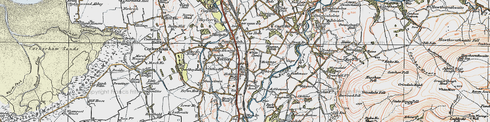 Old map of White Carr in 1924