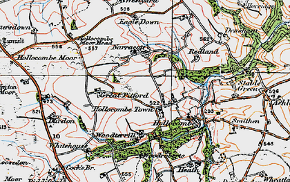Old map of Woodroberts in 1919
