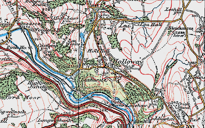 Old map of Holloway in 1923