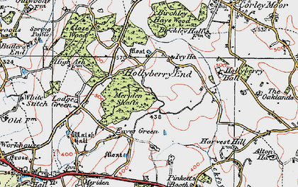 Old map of Alspath Hall in 1921
